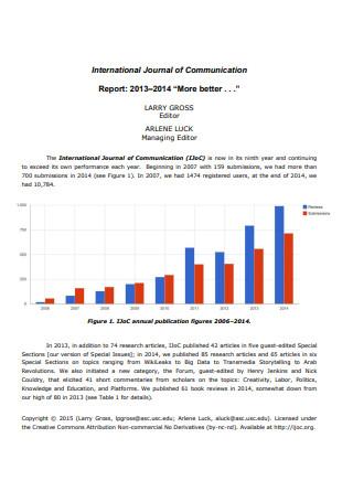 International Journal Communication Report