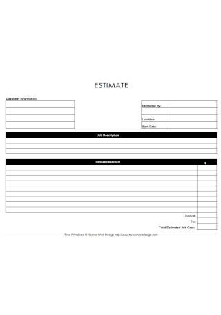 Job Description Estimate