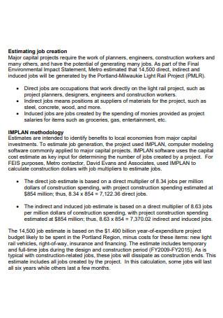 Job Estimating in PDF