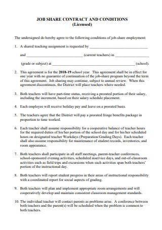 Job Share Contract