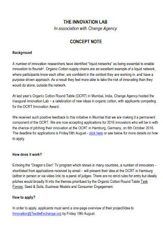Lab Concept Note