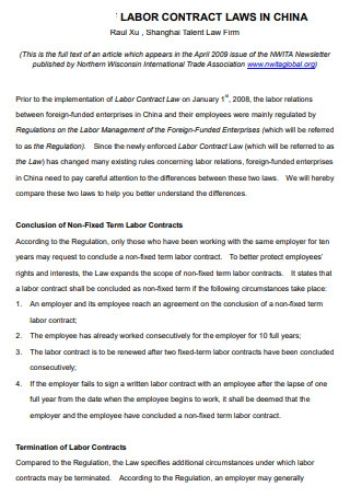 Labor Contract Law