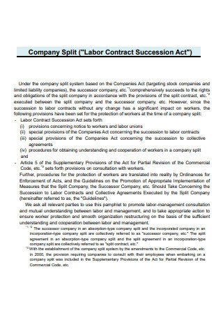 Labor Contract Succession Act