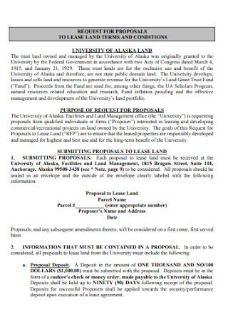 Land Lease Proposal
