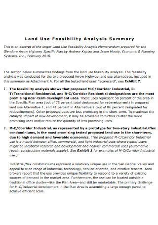 Land Use Feasibility Analysis
