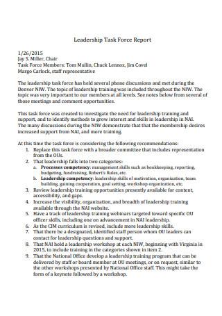 Leadership Task Force Report