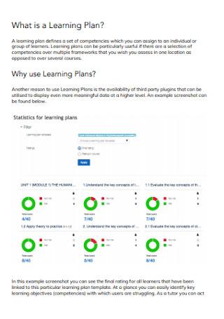 Learning Plan Format