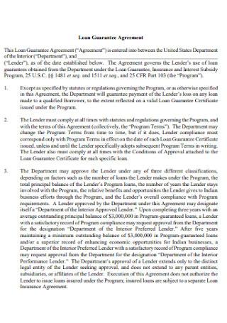 Loan Guarantee Agreement