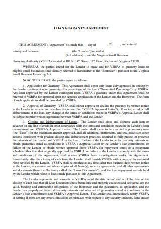 Loan Guaranty Agreement
