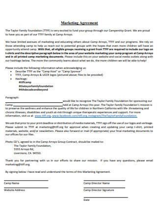 Marketing Agreement in PDF