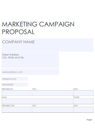 Marketing Campaign Proposal
