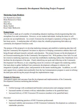 Marketing Project Proposal