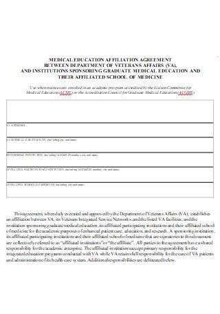 Medical Education Affiliate Agreement