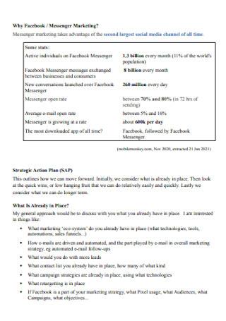 Messenger Marketing Plan