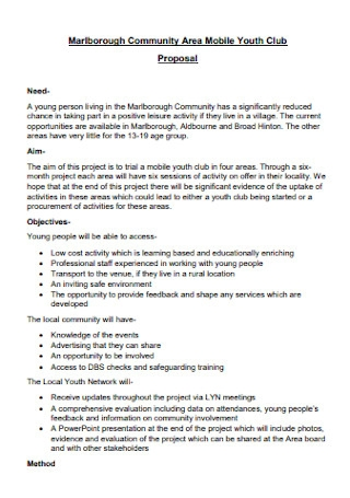 Mobile Youth Club Proposal