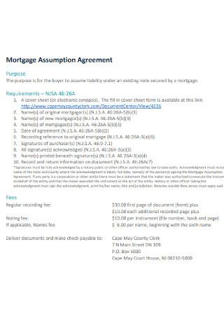 Mortgage Assumption Agreement