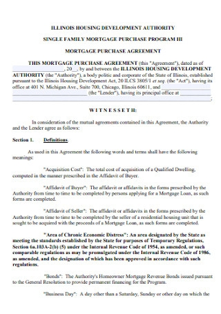 Mortgage Purchase Agreement