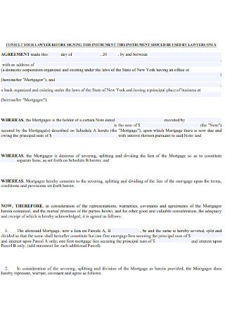 Mortgage Splitter Agreement