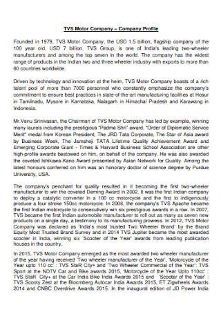 Motor Company Profile