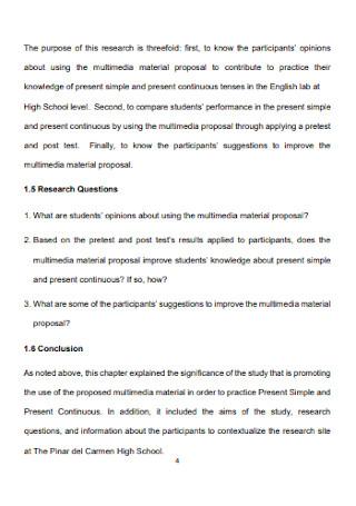 Multimedia Material Proposal