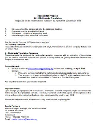 Multimedia Translation Proposal
