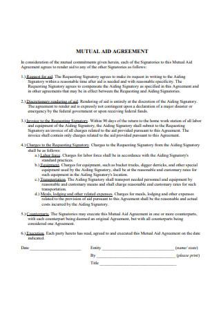 Mutual Aid Agreement