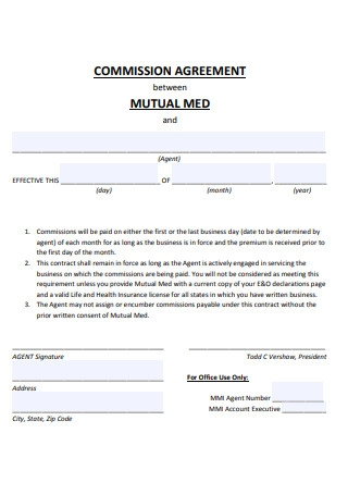 Mutual Commission Agreement