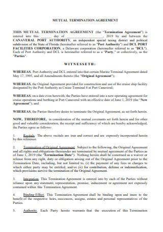 Mutual Termination Agreement