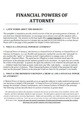 Office Financial Power of Attorney