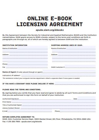 Online Licensing Agreement