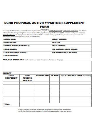 Partner Activity Proposal