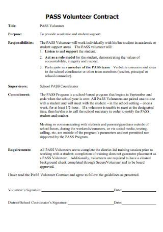 Pass Volunteer Contract