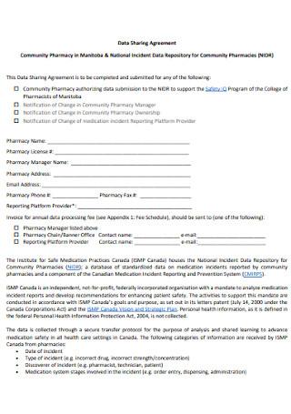 Pharmacy Data Sharing Agreement
