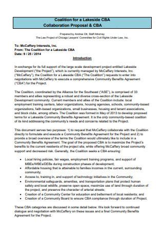 Printable Collaboration Proposal