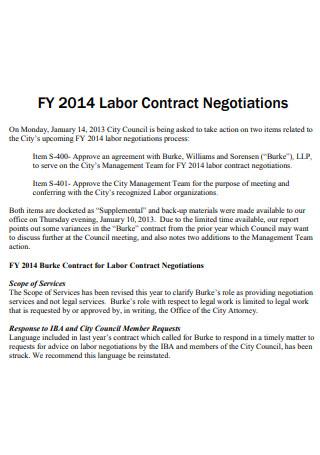 Printable Labor Contract