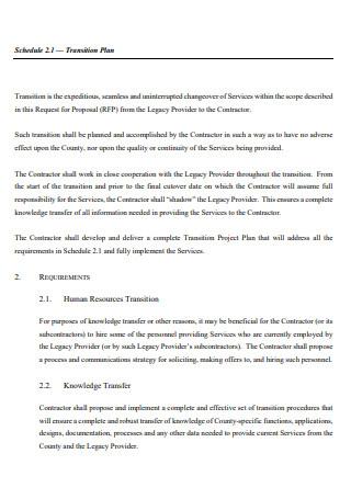 Printable Transition Plan