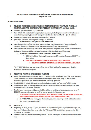 Printable Transportation Proposal