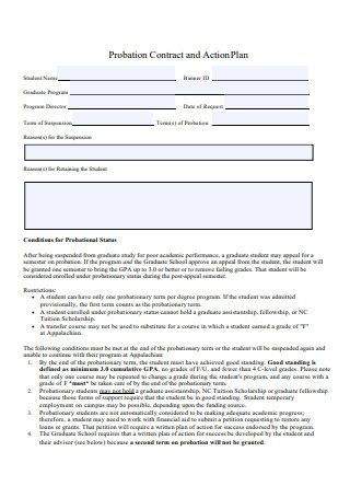 Probation Contract and Action Plan