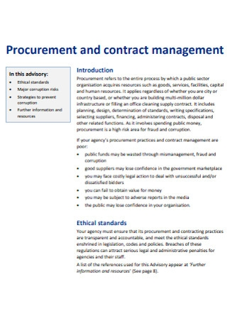 Procurement and Contract Management Template