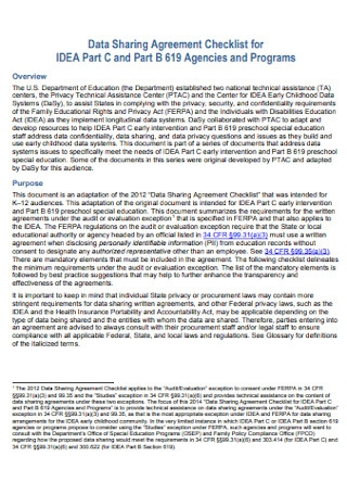 Program Data Sharing Agreement