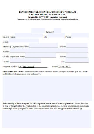 Program internship Contract