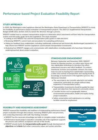 Project Evaluation Feasibility Report
