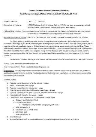 Property Lease Proposal