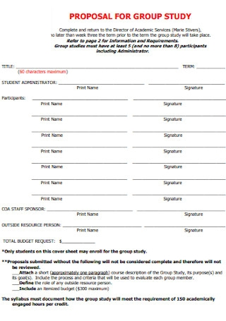 Proposal Group Study Template