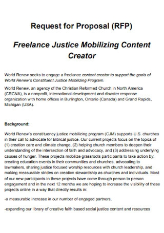 Proposal for Freelance Mobilizing Content