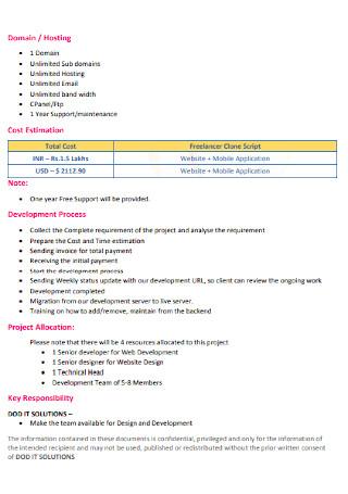 Proposal for Freelancer Script