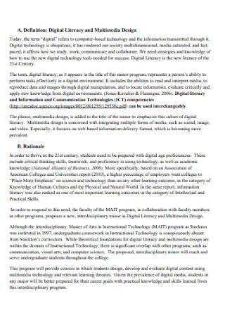 Proposal for Multimedia Design