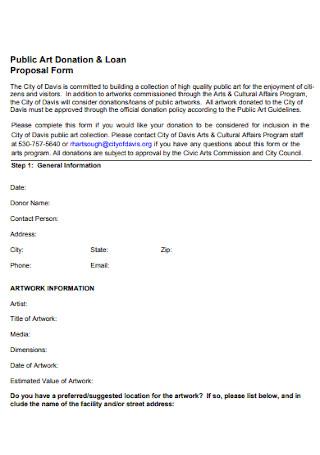 Public Art Donation and Loan Proosal