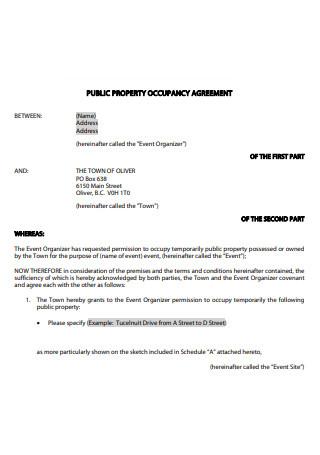 Public Property Occupancy Agreement