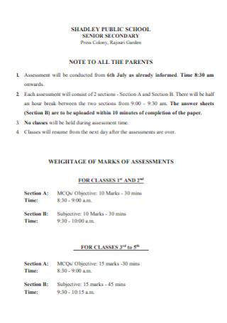 Public School Note